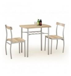 Salle à manger LANCE chêne + 2 chaises