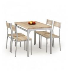 Salle à manger MALCOLM + 2 chaises en chêne