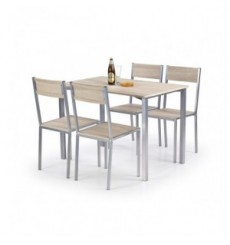 Salle à manger RALPH + 4 chaises en chêne