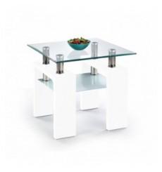 Table basse DIANA_KWADRAT_H 60/60/55 cm blanc