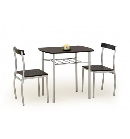 Salle à manger LANCE wenge + 2 chaises