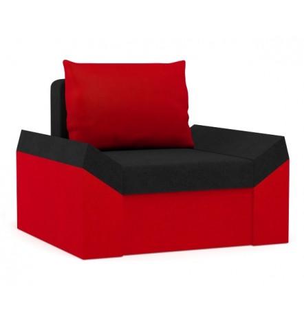 Fauteuil Denver rouge et noir