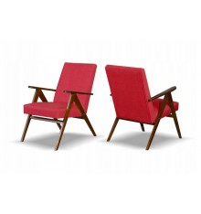 Fauteuil retro HELENA rouge