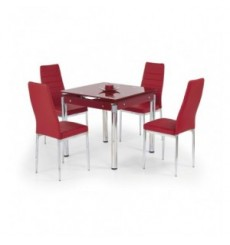 Table à manger extensible KENT red