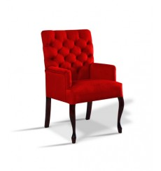 Fauteuil Chesterfield MARTINA rouge