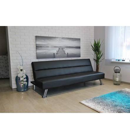 Banquette Clic-Clac PALMIRA 185 cm en noir