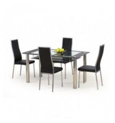 Table à manger CRISTAL noir 150/90/77 cm