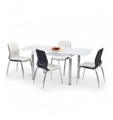 Table à manger extensible L31 en blanc