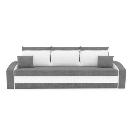 Canapé convertible 3 places HEWLETT 225 cm gris