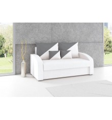 Canapé convertible 2 places JULIA 142 cm gris