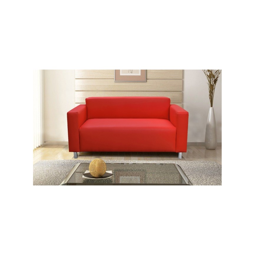 Canapé 3 places PALLADIA rouge 202 cm