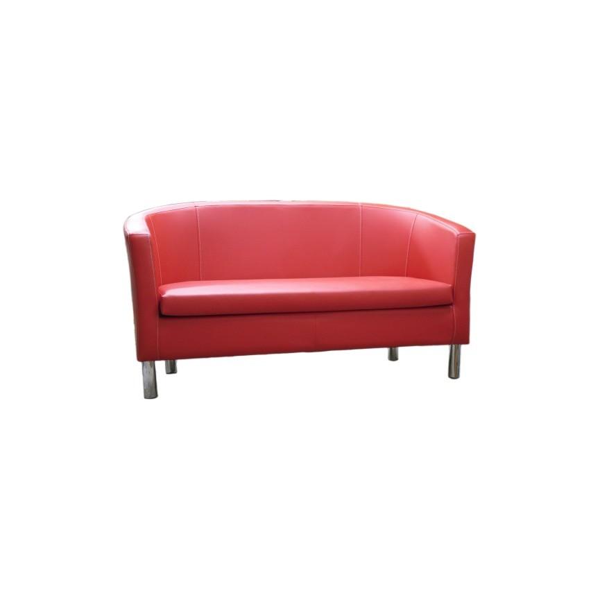 Canapé 2 places MATHILDE 140 cm rouge