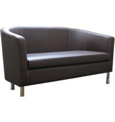 Canapé 2 places MATHILDE 140 cm noir