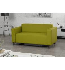 Canapé 2 places HUGO 147 cm revêtement en similicuir vert