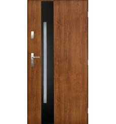 Porte d'entrée HELIOS 90 cm 72 mm en acier inoxydable en 3 couleurs