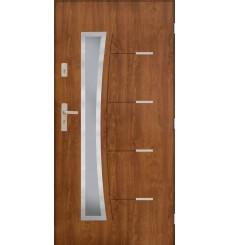 Porte d'entrée SATURNE 90 cm 72 mm en acier inoxydable en 3 couleurs