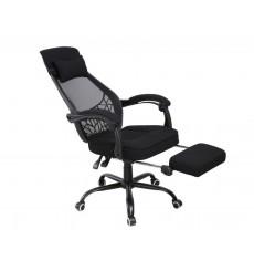 Fauteuil de bureau ergonomique avec repose-pieds extensible appui-tête CHIARRA
