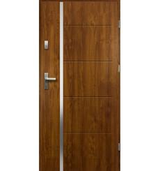 Porte d'entrée IRIS 90 cm 55 mm en acier inoxydable en plusieurs couleurs