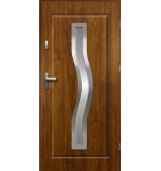Porte d'entrée CERESA 90 cm 55 mm en acier inoxydable en plusieurs couleurs