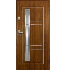 Porte d'entrée APOLLO 90 cm 55 mm en acier inoxydable en plusieurs couleurs