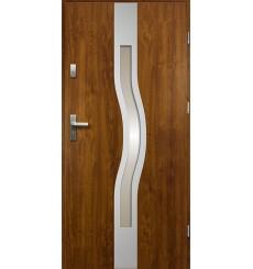 Porte d'entrée OLYMPE 90 cm 68 mm en acier inoxydable en plusieurs couleurs