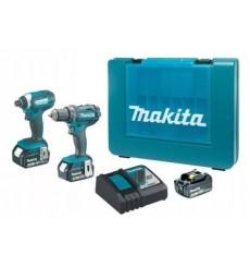 ensemble de 2 machines MAKITA 18 V perceuse visseuse sans fil DDF482 + visseuse à choc sans fil DTD152