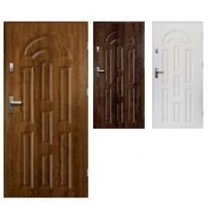 Porte d'entrée AURORE 90 cm 68 mm en acier inoxydable en 3 couleurs