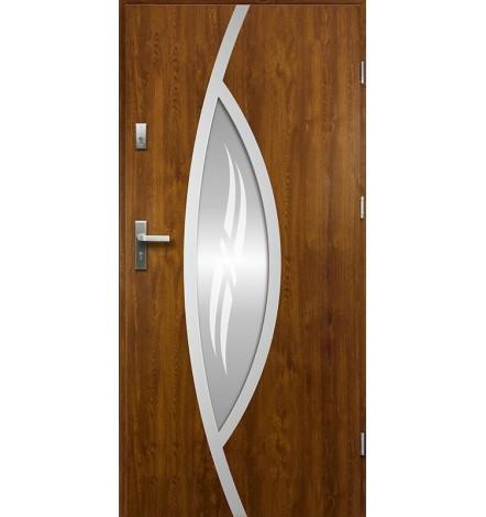 Porte d'entrée GOJI 90 cm 68 mm en acier inoxydable en plusieurs couleurs
