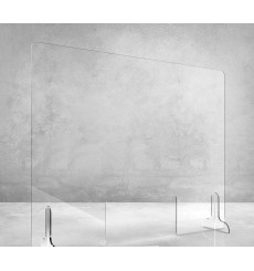 Ecran de protection en Plexiglass sur pied 65x140 cm