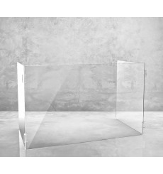 Ecran de protection de table de restaurant en Plexiglass   60x50X30