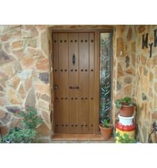 Porte d'entrée MAS rustica 90 cm 45 mm en acier inoxydable en plusieurs couleurs