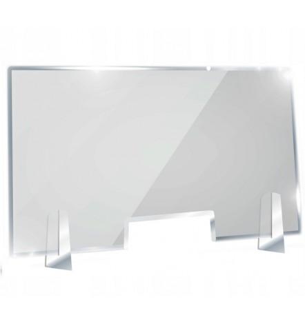Ecran de protection bureau en Plexiglass 100x75 cm