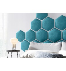 Panneau capitonné pour revêtement mural 40.5*35.3 cm bleu