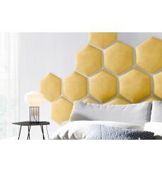 Panneau capitonné pour revêtement mural 40.5*35.3 cm jaune