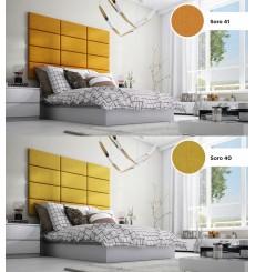 Panneau capitonné pour revêtement mural 40*30 cm jaune
