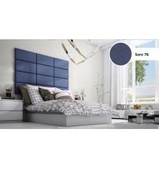 Panneau capitonné pour revêtement mural 40*30 cm bleu