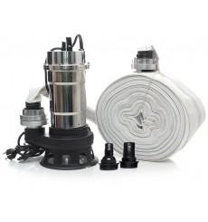 Pompe relevage 25m3 TAGRED TA505 2900 WATT avec broyeur et tuyau d'incendie