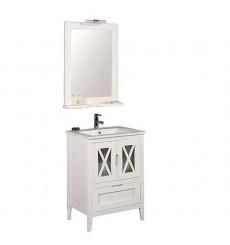 Meuble salle de bain en pin massif ALASKA Blanc en plusieurs dimensions