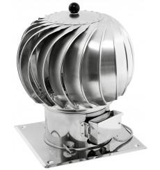 TURBOWENT hybride ouvrable Ø250- Ø 250 Base carré