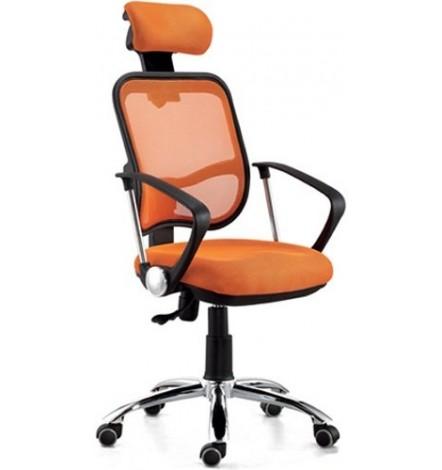 Fauteuil de bureau à roulette BRIDIE orange