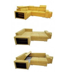Canapé d'angle convertible SORAYA 266x196 cm