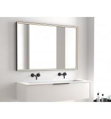 Miroir ATIU cadre en métal, lumineux à LED, noir mat, plusieurs dimensions