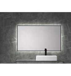 Miroir BARBADOS cadre en métal, lumineux à LED, noir graphite, plusieurs dimensions