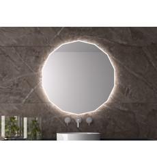 Miroir NASSAU polygonal, lumineux à LED