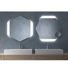 Miroir TURKS polygonal, lumineux à LED