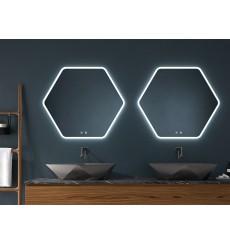 Miroir MARE polygonal, lumineux à LED