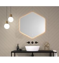 Miroir AZORES polygonal, lumineux à LED