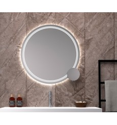 Miroir DOMINICA rond, lumineux à LED, plusieurs dimensions