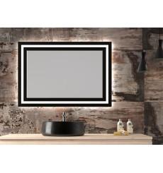 Miroir CUBA, lumineux à LED, noir, plusieurs dimensions
