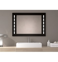 Miroir TONGA, lumineux à LED, noir, plusieurs dimensions